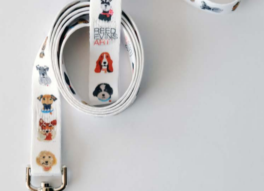 Sublimated Dog Leash by Reed Evins