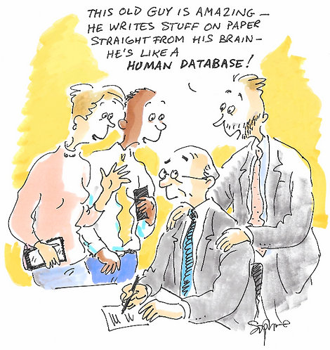 'Human Database' cartoon by Sophie Grillet