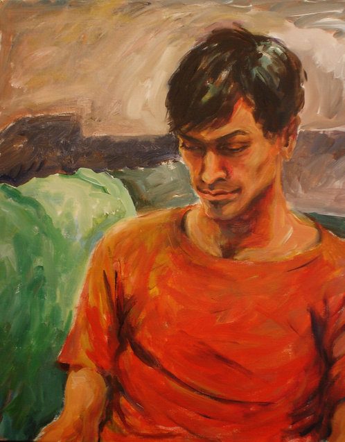 Portrait of Douglas, reading