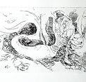 Mermaid by Sophie Grillet intaglio print