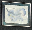 Blue Foal watercolor and graphite painting blue-grey