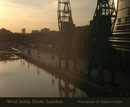 West India Dock, London Poster
