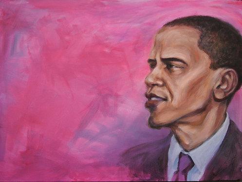 Portrait of Barak Obama