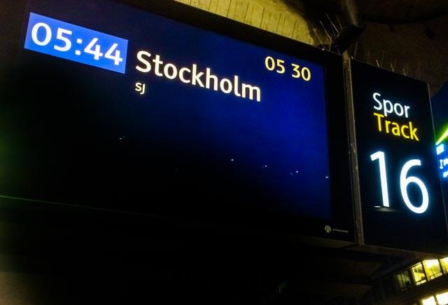 SJs nye morgentog fra Oslo til Stockoholm går ukristelig tidlig, men så er du fremme i god tid før lunsj!