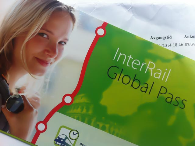 Vi reiste med InterRail Global Pass til Spania.