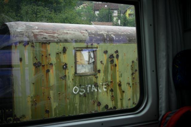 Fotografert langs Mostar-Sarajevo-linjen i  2008.