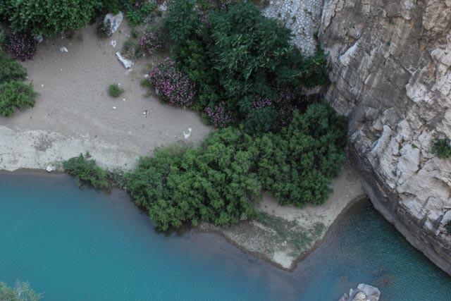 Guadalahorce-elven sett fra Caminito del Rey.