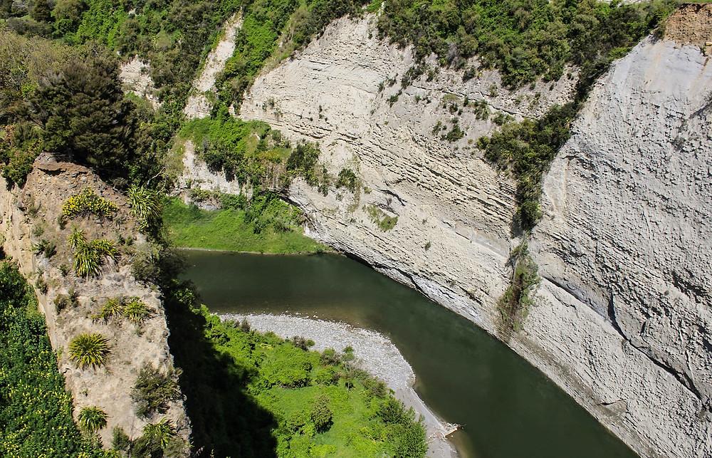 The Rangitikei River sett fra toget.