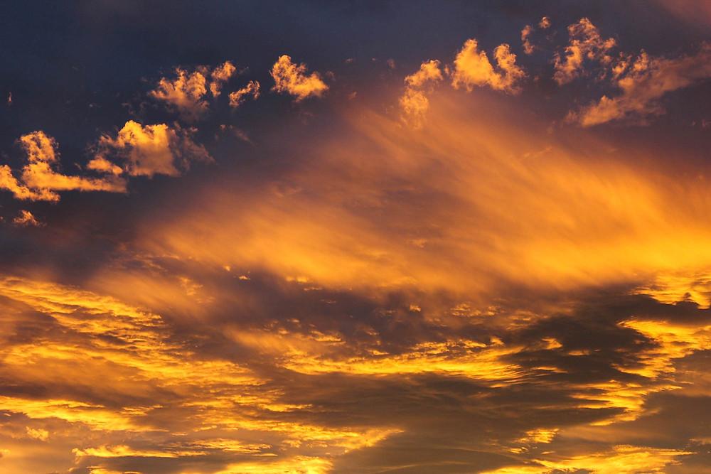 Solnedgangene er ofte storslagne på New Zealand. Denne over Christchurch var en mektig opplevelse.