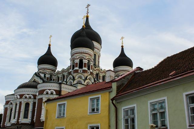 Aleksander Nevskij katedralen i gamlebyen i Tallin.
