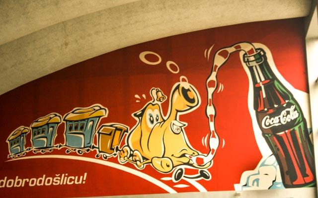 Fra jernbanestasjonen i Sarajevo.