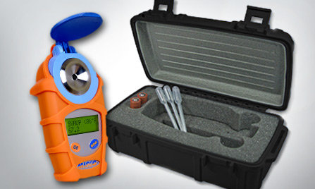 Refractometer with Armor Jacket and Rugged Case