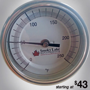 "0-250 Thermometer (3"" Dial, 4"" Stem)"