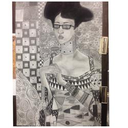 Portrait of Jas (Tribute to Klimt)