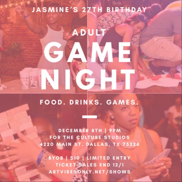Jasmine's 27th Birthday Adult Game Night