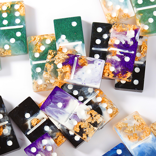 Custom Dominoes with Gold Leaf