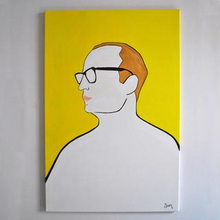 Il Conforto di Enrico 80 x 120 cm Olio su Tela, 2020 Esposizione Illustri Volti