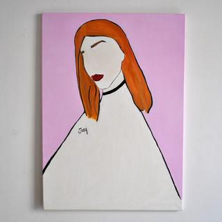 Greis 65 x 90 cm Olio su Tela, 2019 Esposizione Illustri Volti