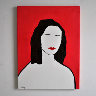 Ofelia Giugni Steffetta partigiana 60 x 80 cm Olio su Tela, 2020 Esposizione Illustri Volti