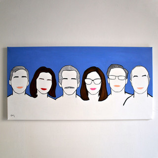 I Professionisti 60 x 120 cm Olio su Tela, 2020 Esposizione Illustri Volti