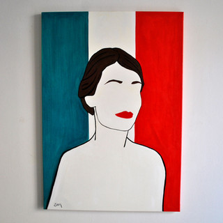 Italia 70 x 100 cm Olio su Tela, 2020 Esposizione Illustri Volti
