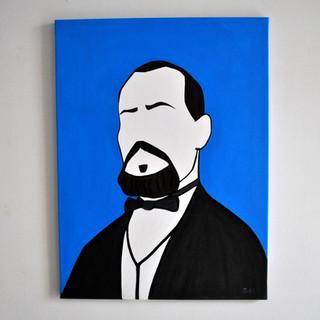 Antonio Mattei Fornaio e precursore dei Biscotti di Prato 60 x 80 cm Olio su Tela, 2020 Esposizione Illustri Volti