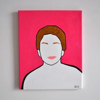 Roberta Betti Presidentessa del Politeama Pratese 40 x 50 cm Olio su Tela, 2020 Esposizione Illustri Volti