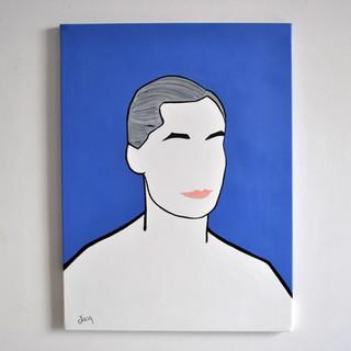 Curzio Malaparte Scrittore 60 x 80 cm Olio su Tela, 2020 Esposizione Illustri Volti