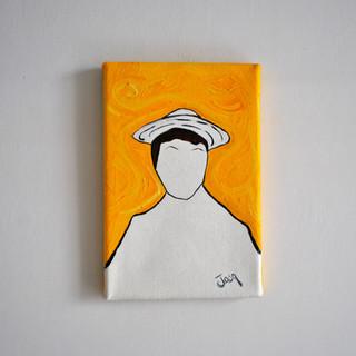 Yellow Self Portrait 20 x 30 cm Olio su Tela, 2018 Esposizione Illustri Volti