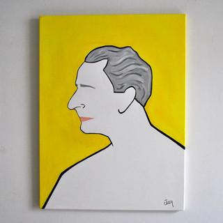 Enrico Pecci Imprenditore e fondatore del Centro per L'Arte Contemporanea Luigi Pecci 60 x 80 cm Olio su Tela, 2020 Esposizione Illustri Volti