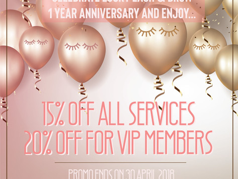Lucky Lash & Brow Turns 1: Celebrate With Us All Month Long!