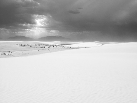Place: White Sands National Park, New Mexico; Book: Hiroshima