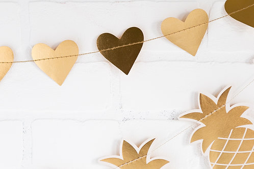 My Mind's Eye ゴールドハートバナー(Basic Gold Heart Banner)