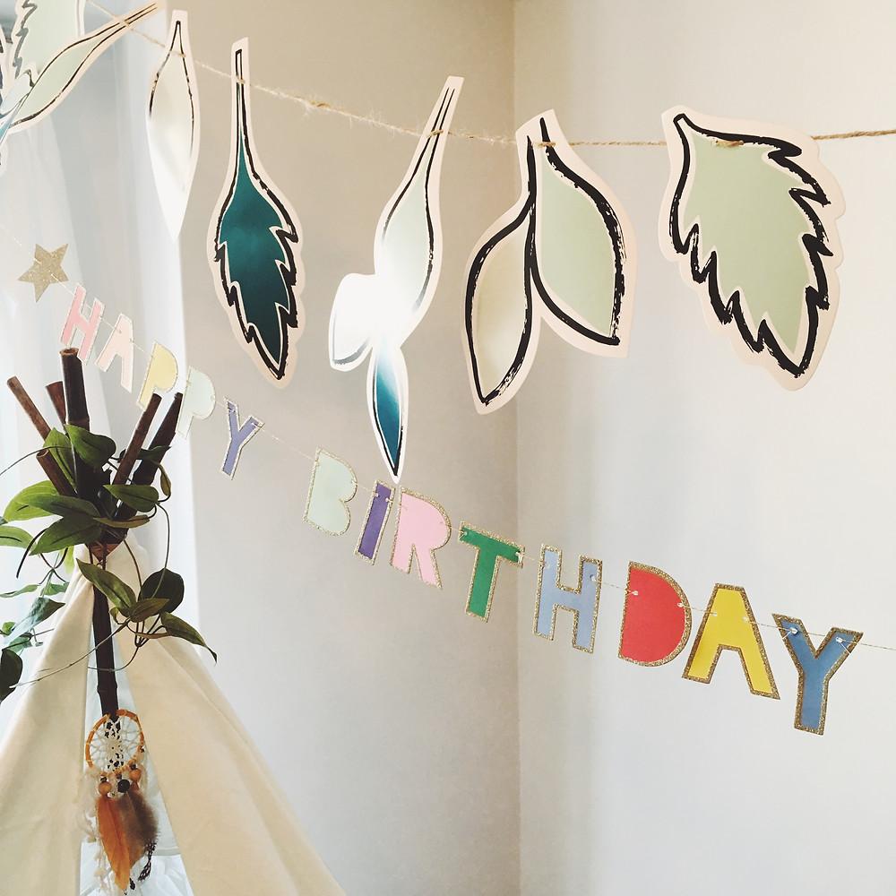 お誕生日会の飾り付け