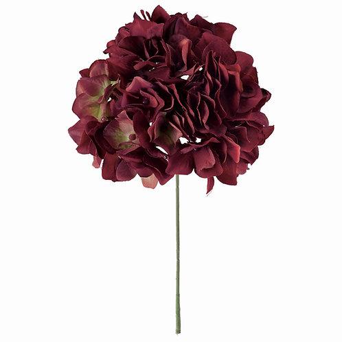アリスハイドレンジア(ワインレッド)アーティフィシャルフラワー 造花
