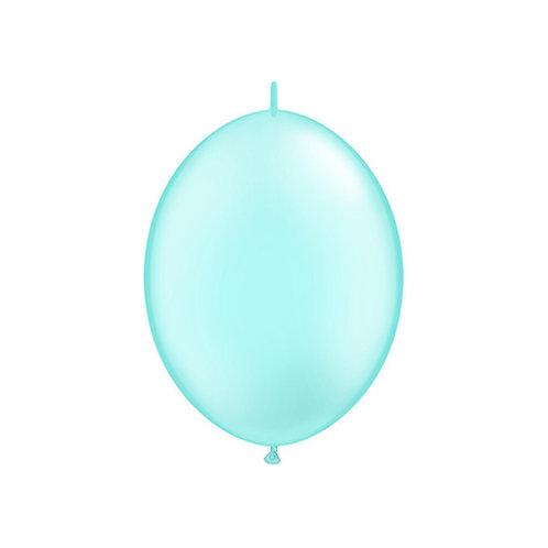 "【QuickLink】6""Pearl Light Blue つながる風船  パールライトブルー 10枚〔DM配送可〕"