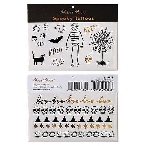 Meri Meri ハロウィン タトゥーステッカー Spooky icon tattoos〔DM配送可〕