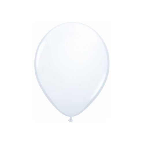 """【Qualatex】11""""R White 風船 ホワイト 10枚〔DM配送可〕"""
