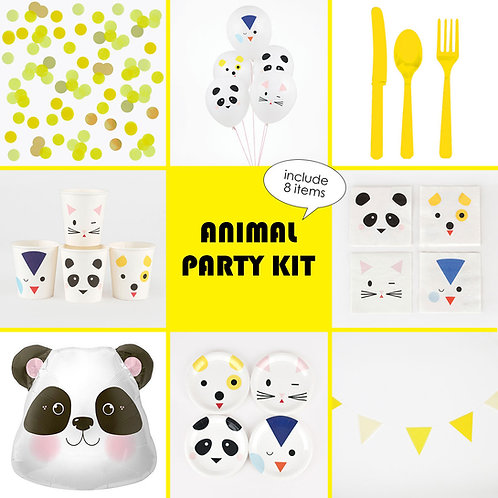 Animal Party Kit(アニマルパーティーキット)8点セット