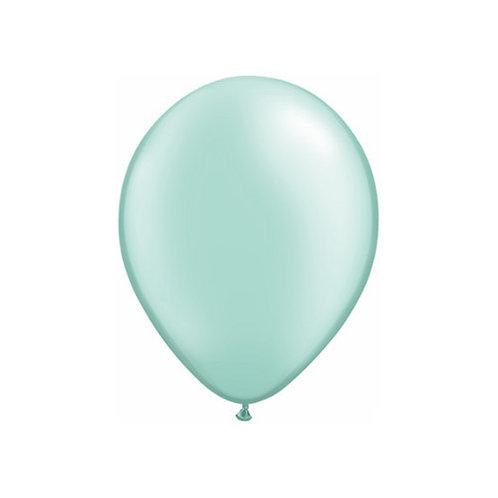 "【Qualatex】11""R Pearl Mint Green 風船 パールミントグリーン 10枚〔DM配送可〕"