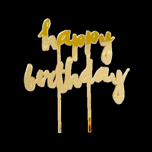 "Harlow & Grey ""Happy Birthday"" ケーキトッパー"