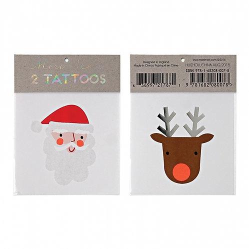 Meri Meri クリスマス タトゥーステッカー(サンタ&トナカイ)〔DM配送可〕