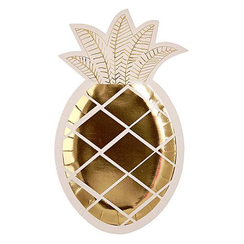 Meri Meri ゴールドパイナップル ペーパープレート