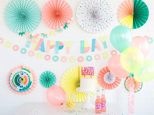 My Mind's Eye ネオンアルファベットバナー(Neon Happy Day Letter Banner)