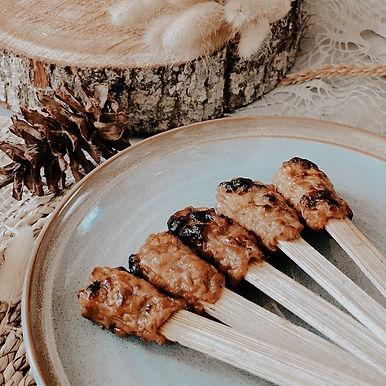 10 Skewers of Chicken Lilit from Nasi Ayam Kedewatan