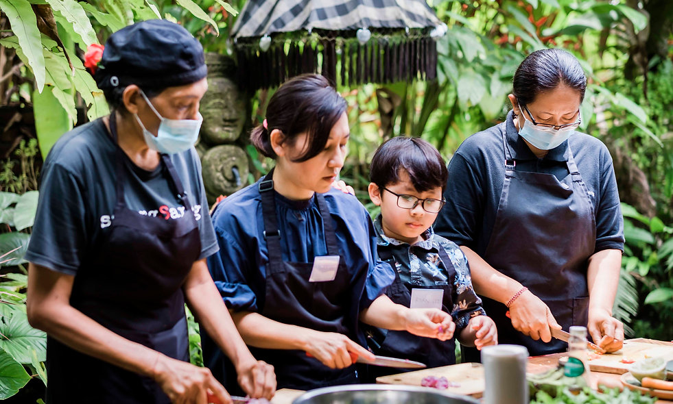 Spending quality time with your kids in the Balinese kitchen