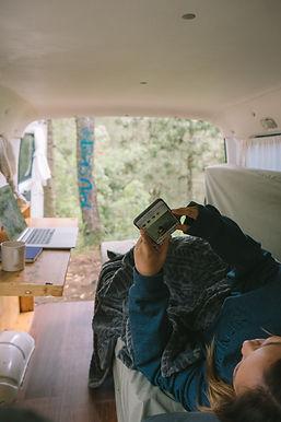 Campervan delivered to your door.