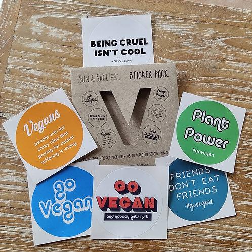 IDR 50K Sun and Sage The Vegan Sticker Pack Voucher