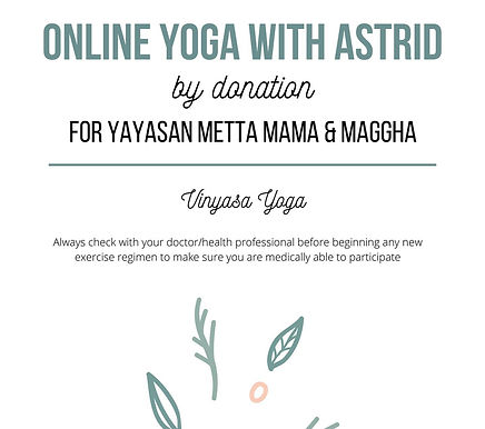 Donation for Abandoned Babies through Online Yoga Class