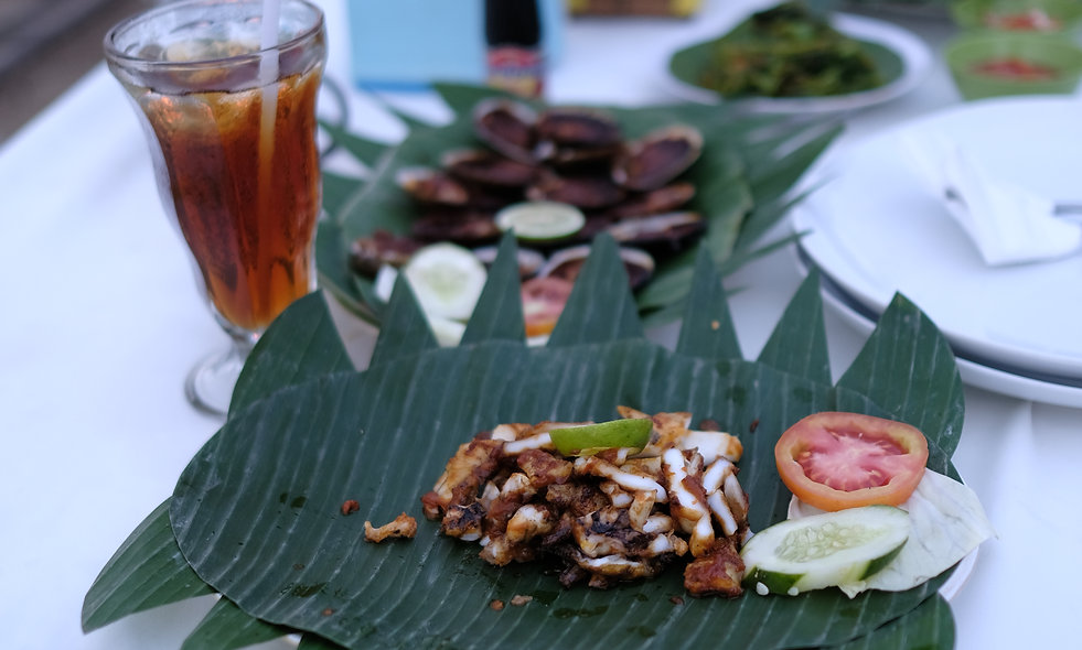 Cumi Bakar dari New Bayang Cafe